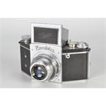 An Ihagee Exakta B Type 5.2 Camera, chrome, serial no. 516942, with Ihagee-Anastigmat Exaktar f/3.