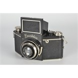 An Ihagee Exakta B Type 3 Camera, black, serial no. 431302, with Carl Zeiss Jena Tessar f/3.5 75mm