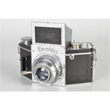 An Ihagee Exakta B Type 5.1 Camera, chrome, serial no. 488872, with Carl Zeiss Jena Tessar f/3.5