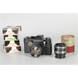 A Pre-Production Prototype Ihagee Exakta Twin TL Camera, black, serial no. 5002, with Exakta Auto