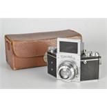 An Ihagee Exakta B Type 5.1 Camera, chrome, serial no. 489678, with Schneider Xenar f/2.8 75mm lens,
