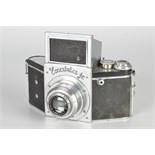 An Ihagee Exakta Jr. Type 5.2 Camera, chrome, serial no. 545790, with Ihagee-Anastigmat f/3.5 73mm