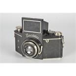 An Ihagee Exakta B Type 4.1 Camera, black, serial no. 458078, with Meyer Görlitz Primotar f/3.5 75mm