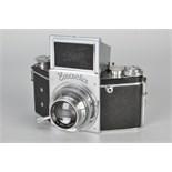 An Ihagee Exacta B Type 5.3 Camera, chrome, serial no. 534038, with Carl Zeiss Jena Tessar f/2.8