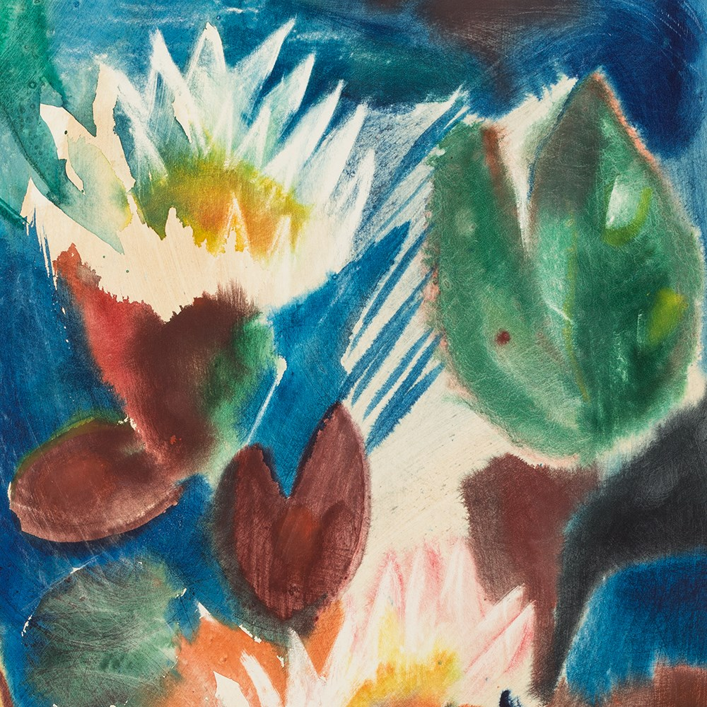 Will Sohl 1906 1969 Water Lilies Watercolor 1967
