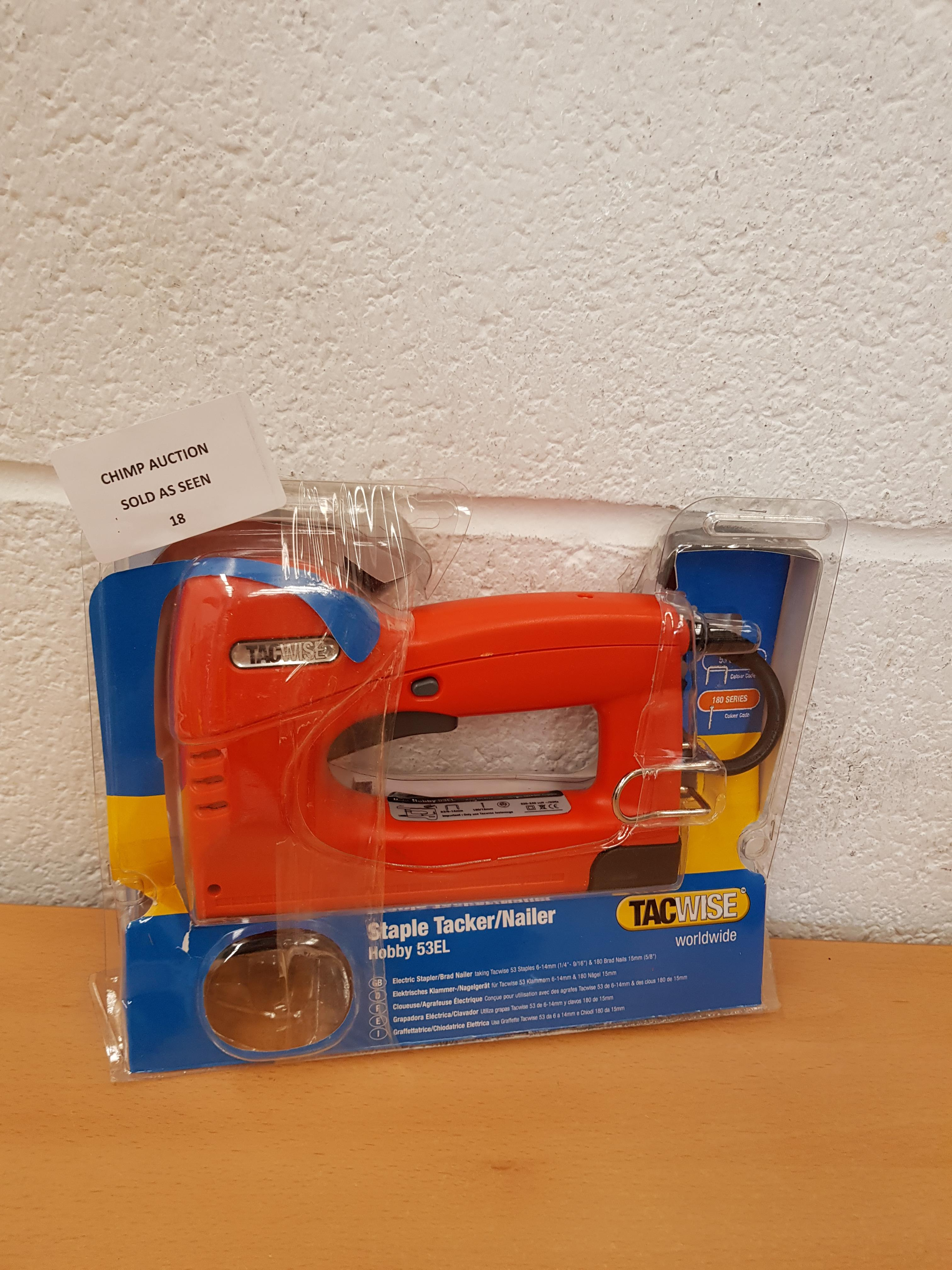 Lot 18 - TacWise Staple Tacker/ Nailer Electric Stapler