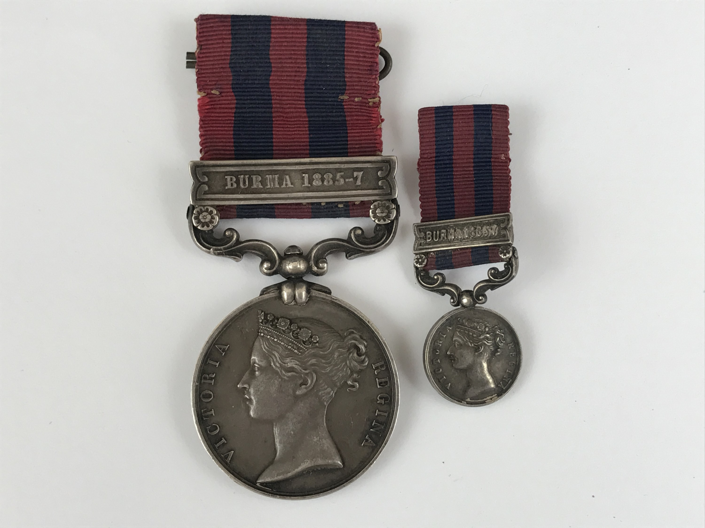 Lot 32 - An India General Service medal with Burma 1885-7 clasp to Captain J A C Widderburn, 2nd Bengal