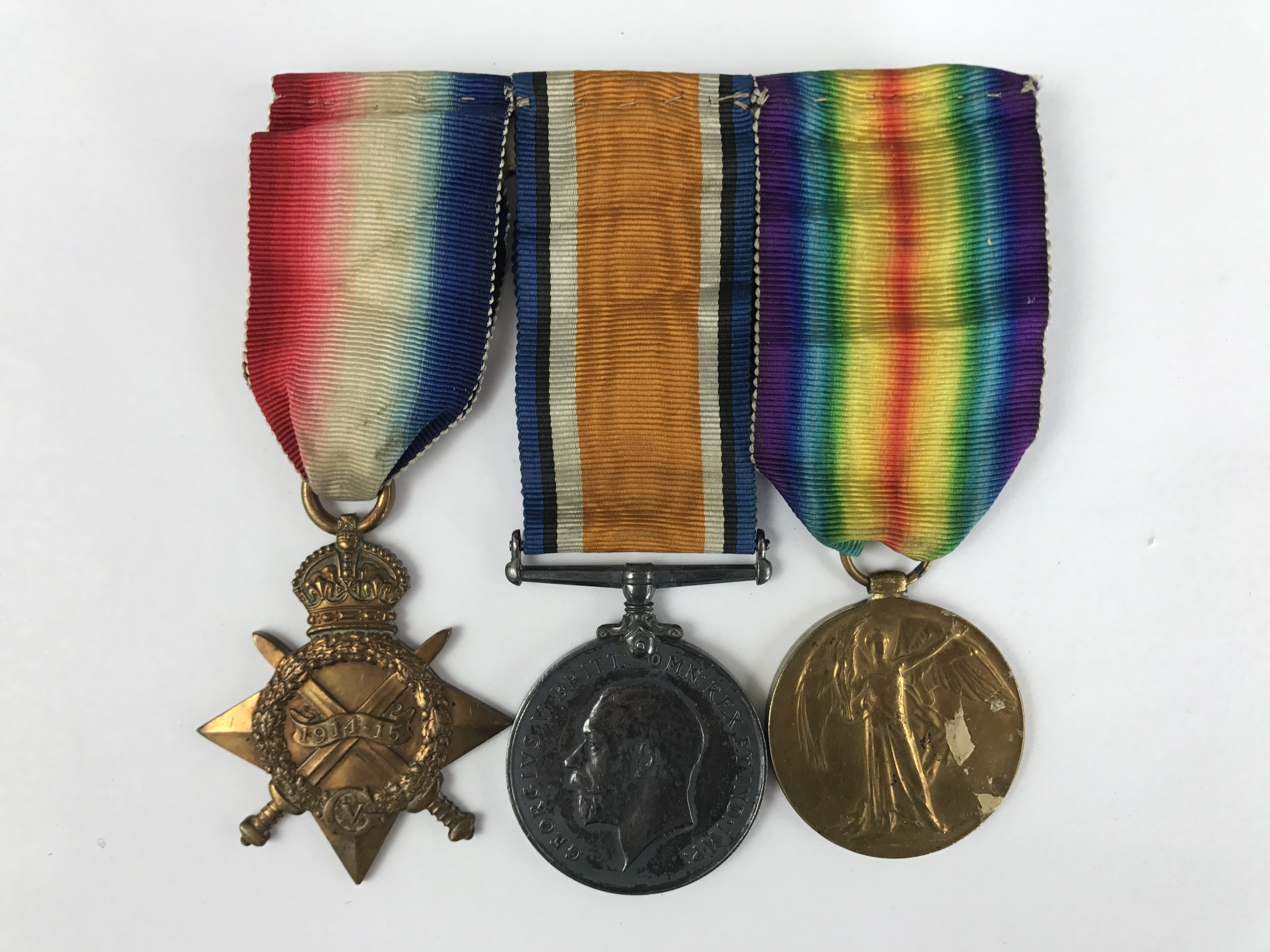 Lot 3 - A 1914-15 Star, British War and Victory medals to 2126 Pte W J Reeves, Border Regiment