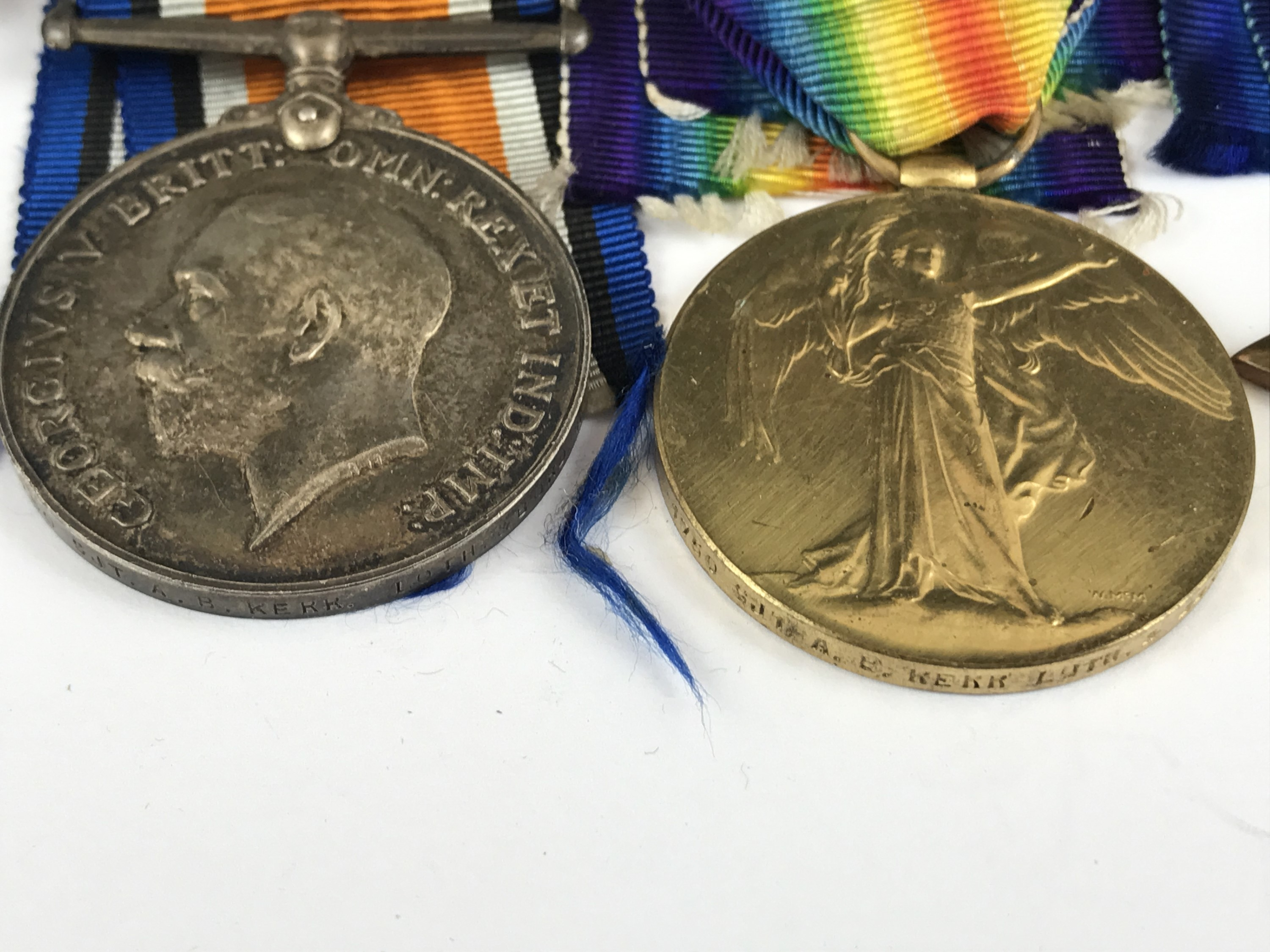 Lot 20 - A 1914-15 Star, British War and Victory medals to 1750 Pte A B Kerr, Lothians and Borders Horse,