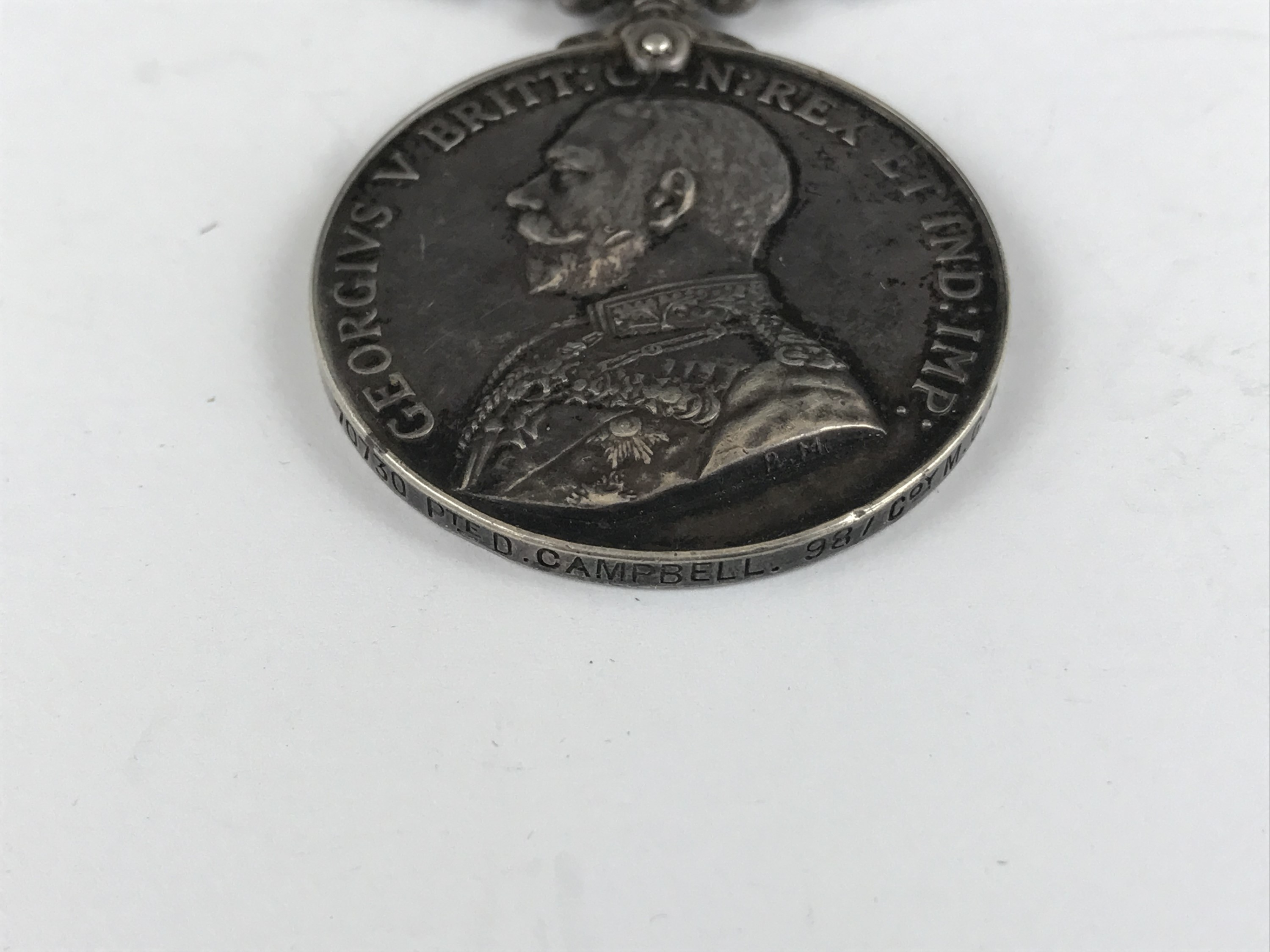 Lot 29 - A Great War Military Medal to 70730 Pte D Campbell, 98 Coy MGC