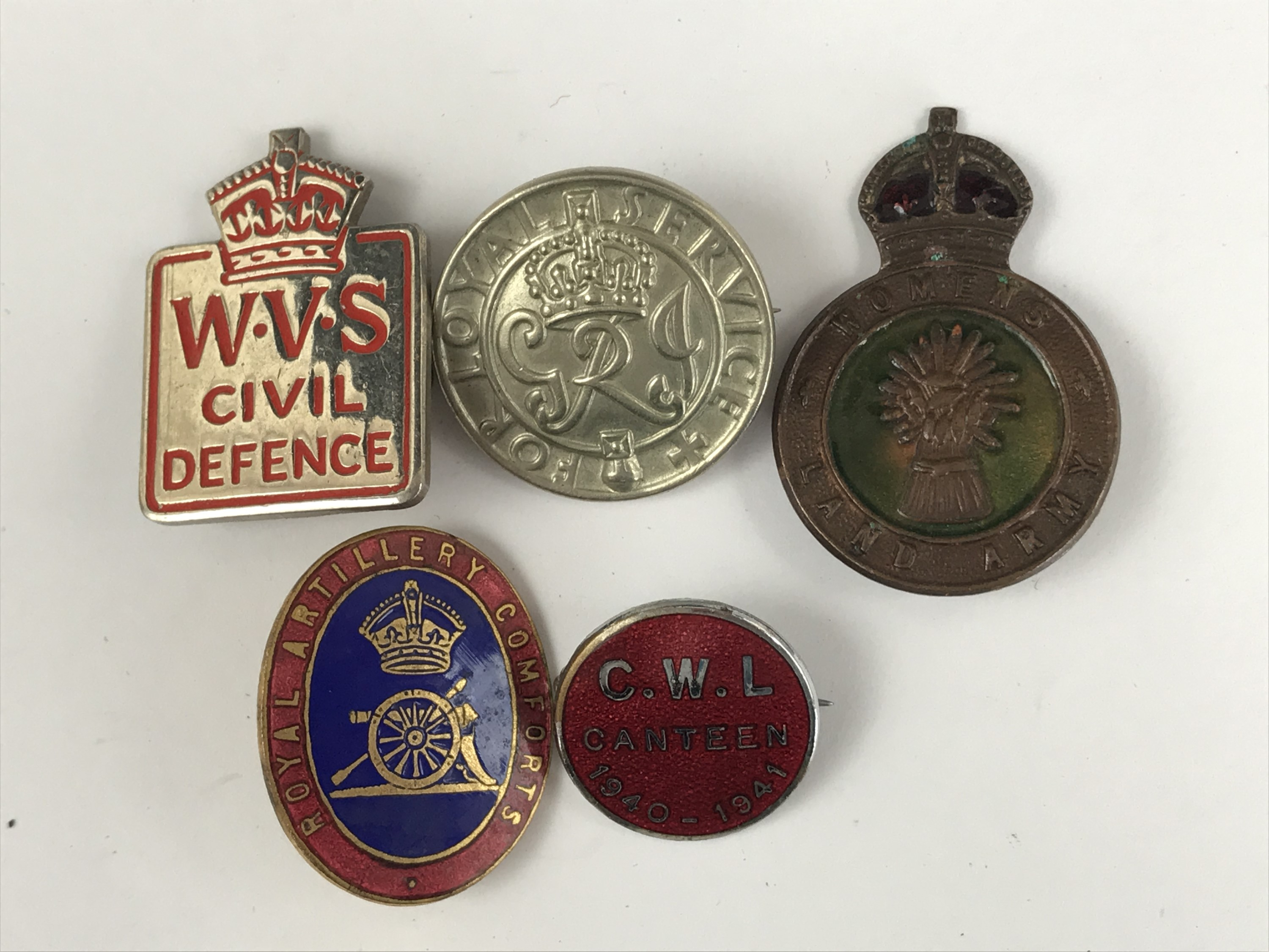 Lot 50 - A group of Second World War lapel badges including Catholic Women's League 1940-1941 Canteen and