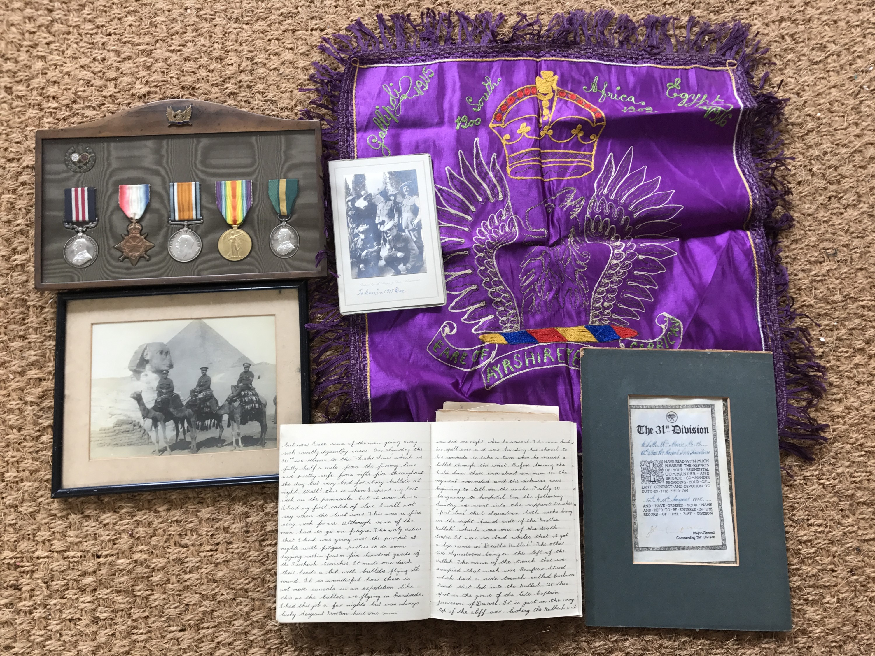 Lot 47 - A Great War gallantry medal group, comprising Military Medal to 295011 C S MJR W Mair, 12 R Sc Fus,