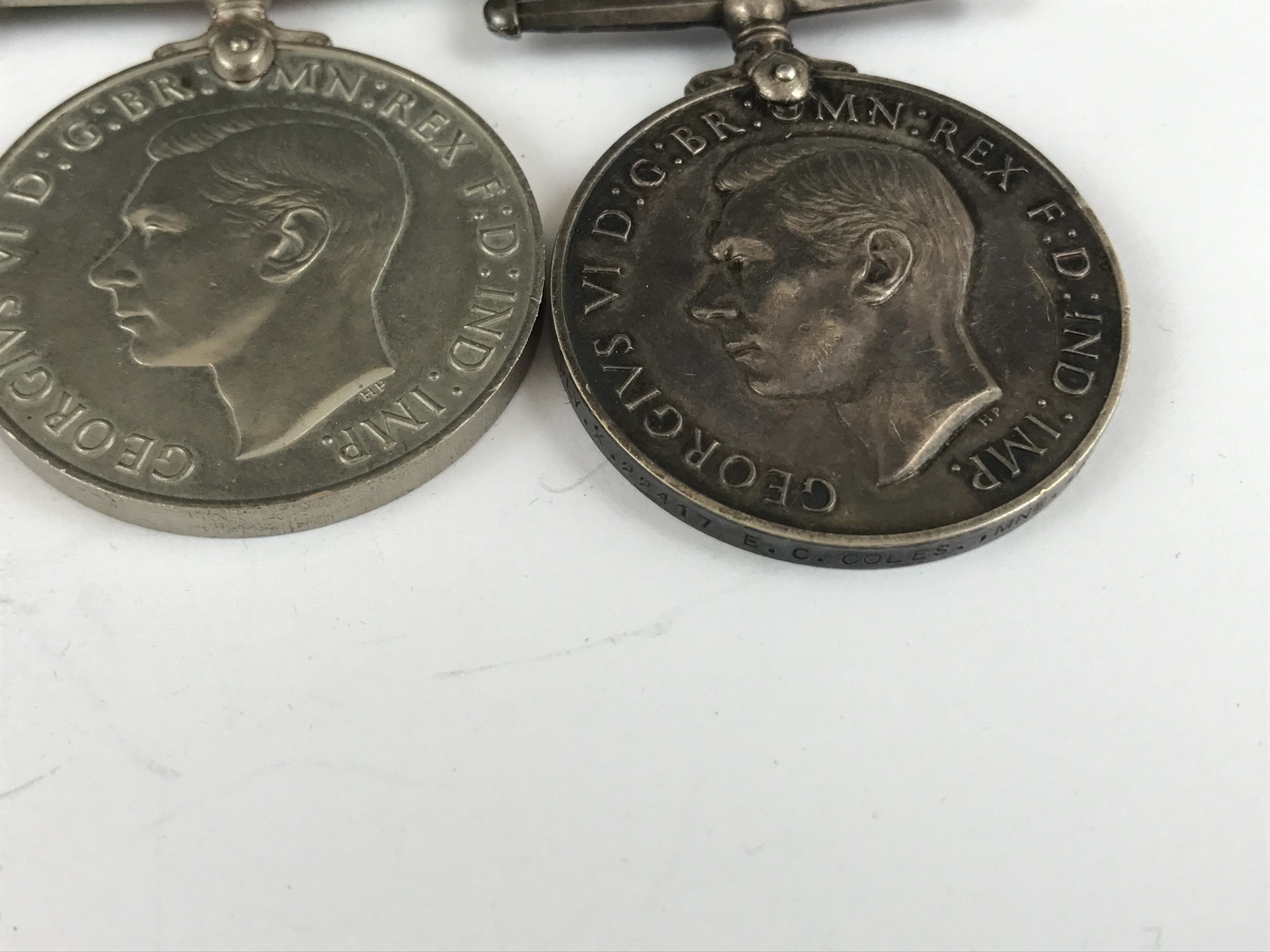 Lot 12 - A George VI Naval Long Service and Good Conduct medal with Second World War campaign medals to PLY X