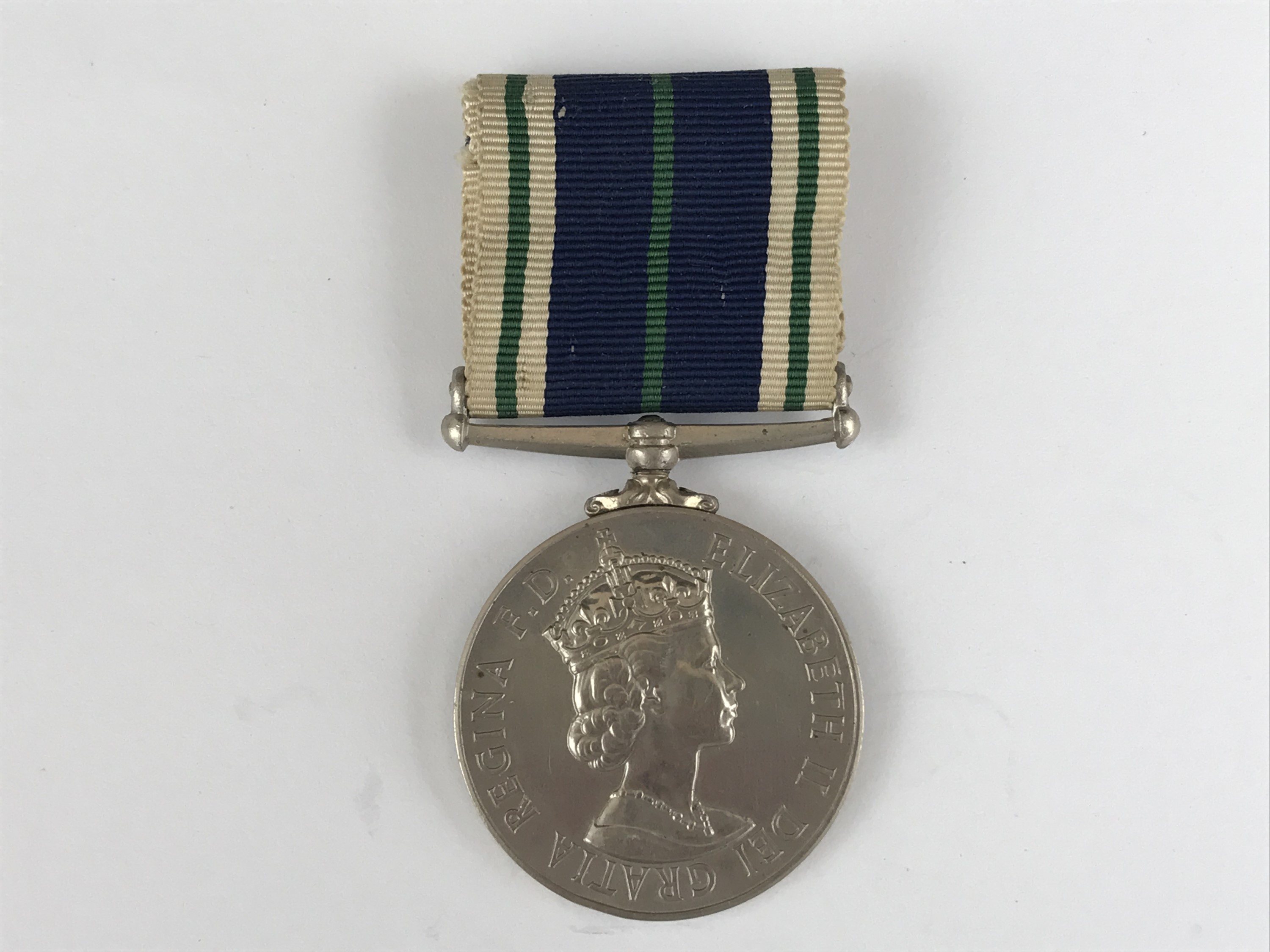 Lot 24 - A QEII Royal Navy Auxiliary Service Long Service medal to Miss I D Marsh