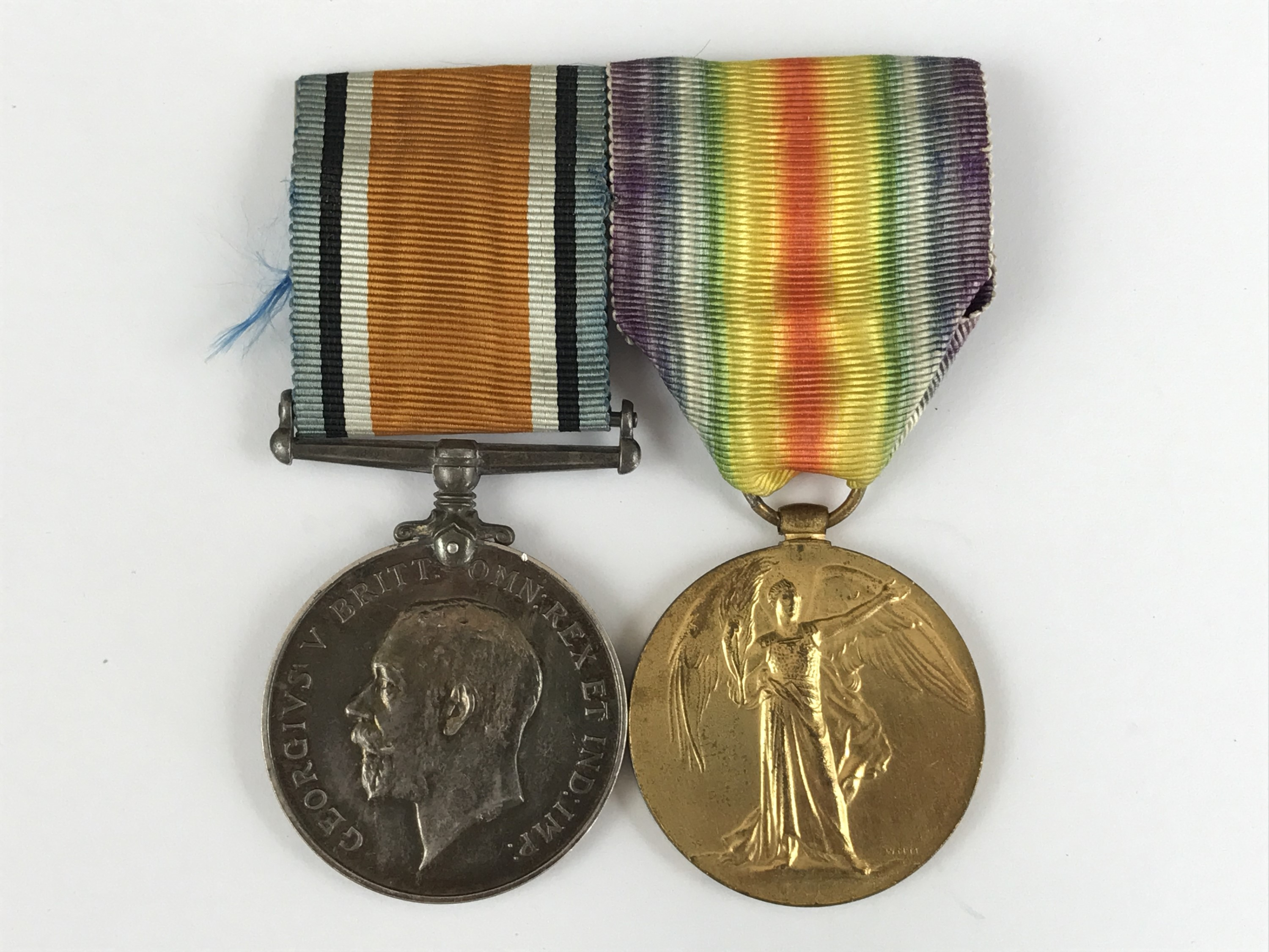 Lot 23 - British War and Victory medals to 41172 Pte D D Macfarlane, Royal Scots