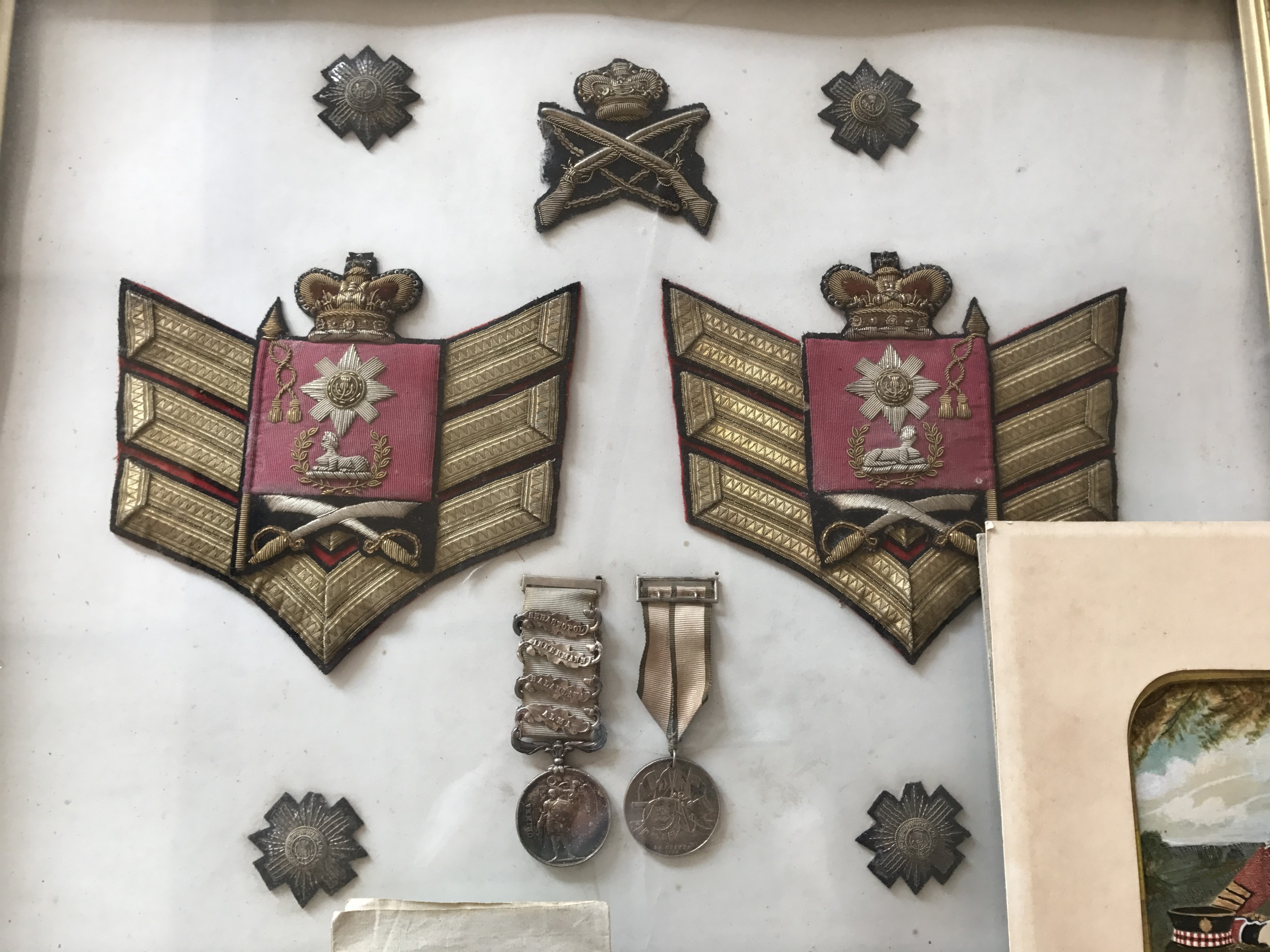 Lot 46 - A Crimean War medal group comprising Crimea medal with four clasps engraved to SERJT MATHW YOUNG
