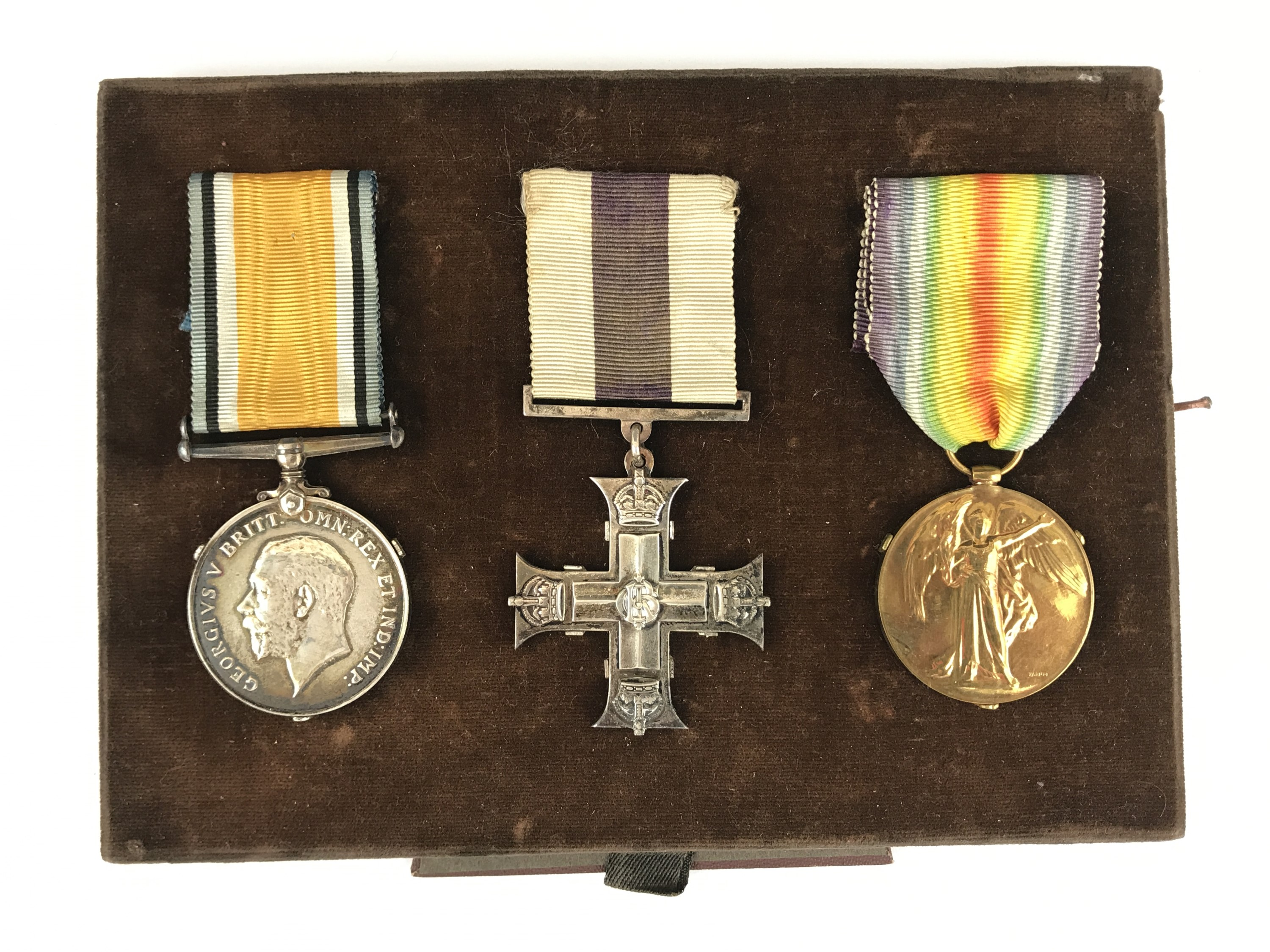 Lot 16 - A Great War gallantry medal group comprising Military Cross (un-engraved), British War and Victory