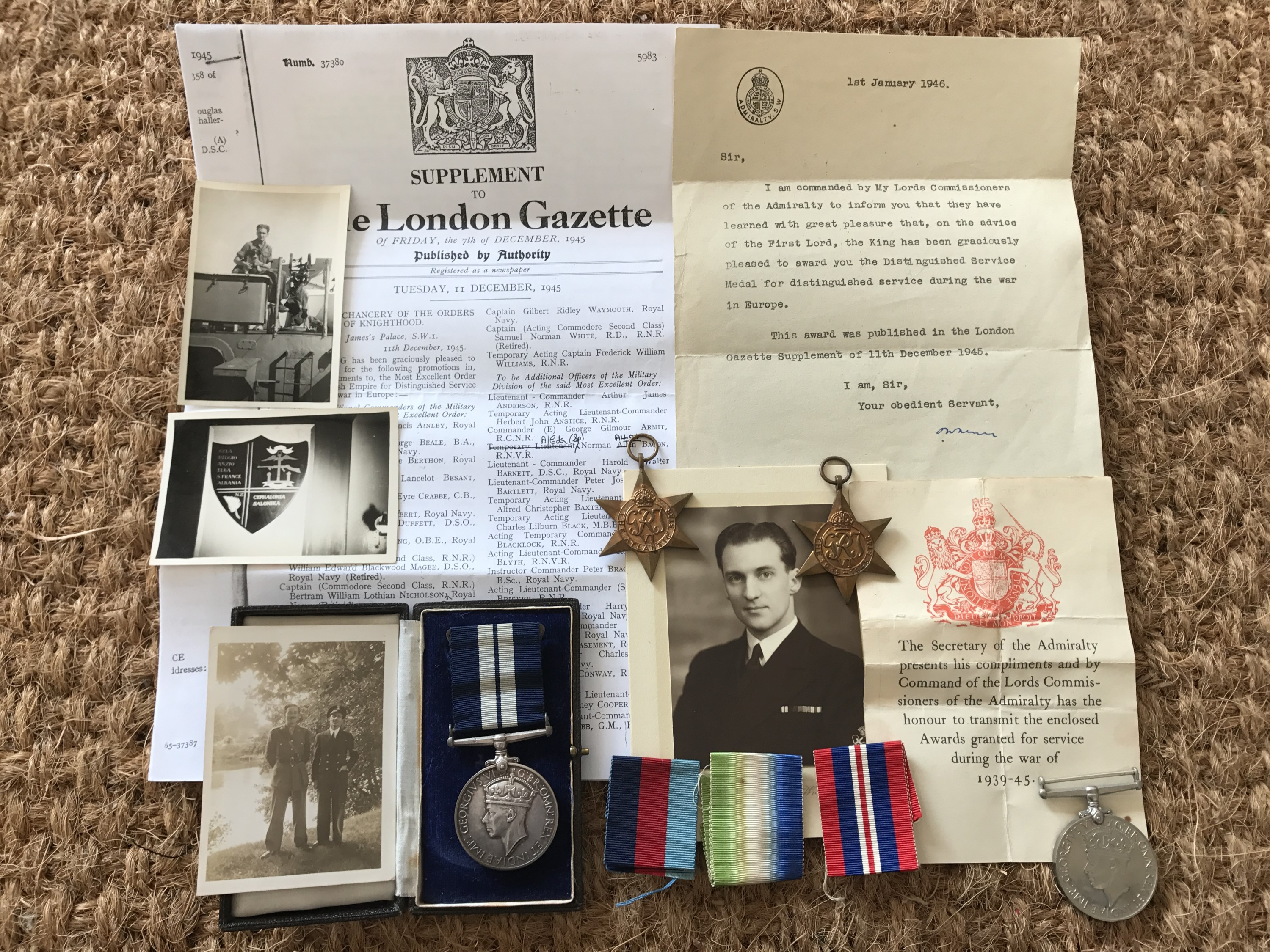 Lot 48 - A Second World War Distinguished Service Medal group to Petty Officer Motor Mechanic Brian George