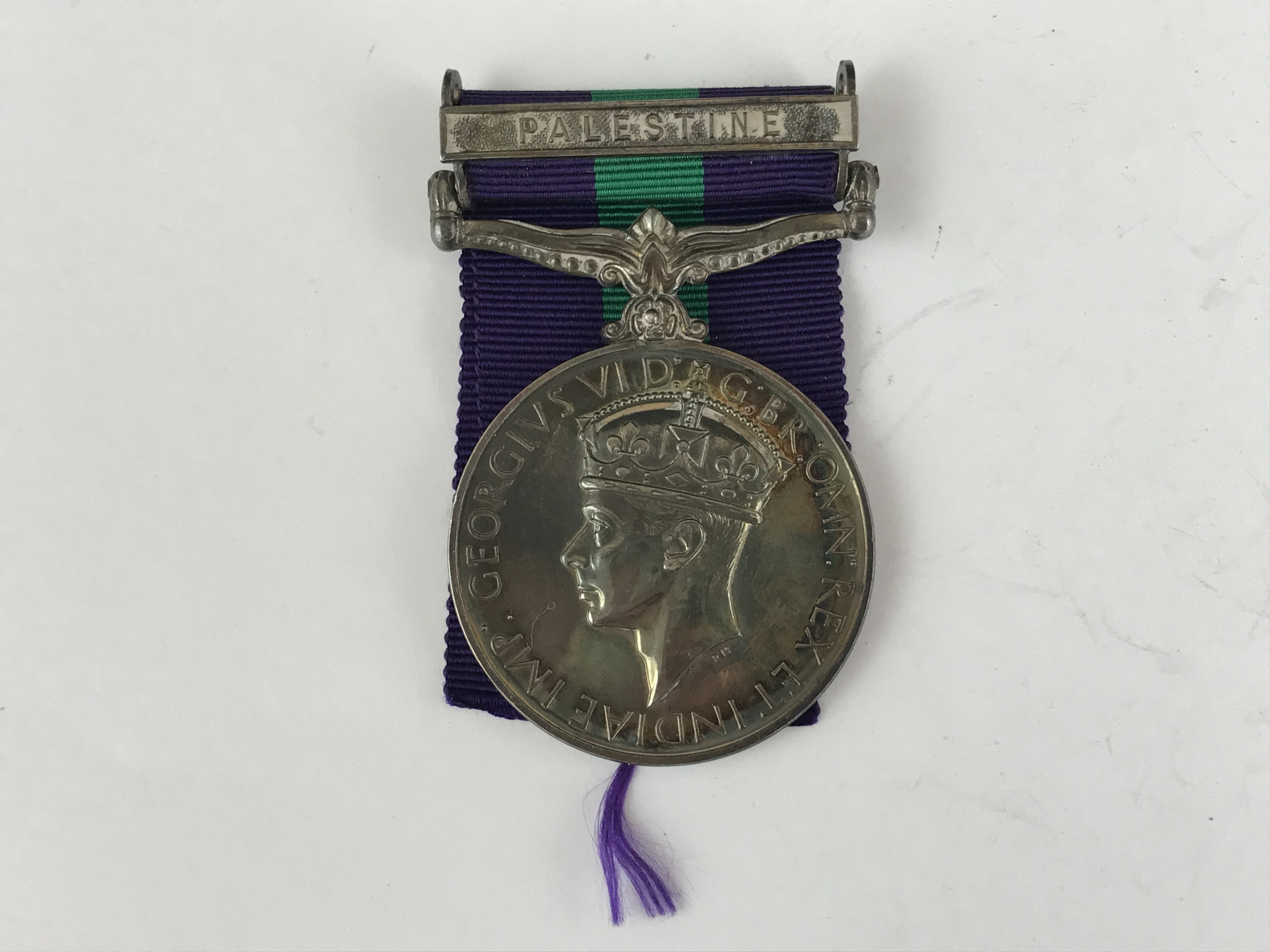 Lot 31 - A George VI General Service Medal with Palestine Clasp to 2928452 Pte W O'Neill, Camerons