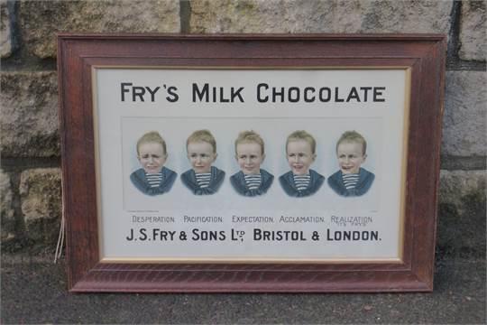 A Rare Frys Milk Chocolate Five Boys Pictorial Showcard Set