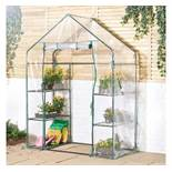 (HZ36) Walk in Greenhouse Keep conditions controlled for your plants, seeds and seedlings Six...