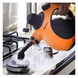 (HZ17) Hand Held Steam Cleaner Emits powerful hot pressurised steam for up to eight minutes fo...