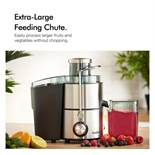 (HZ19) 400W Stainless Steel Juicer Large feeding tube easily processes larger fruits and veget...