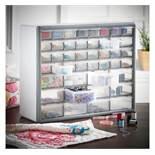 (HZ11) 44 Drawer Storage Organiser - White Features 44 drawers - 12 drawers measuring 53 x 134...