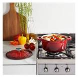 (HZ28) 3.8L Cast Iron Casserole Dish Perfect for casseroles, soups, rice dishes, stews, bakes,...