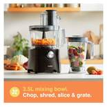 (HZ25) 1000W Food Processor Chop, blend, mix, purée, grate, shred and knead dough Process bi...