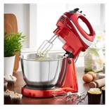 (HZ16) Red Hand & Stand Mixer The mixer is compact, versatile and functional! Includes 2 beat...