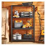 (HZ8) Extra Wide 4 Tier Shelving Suitable for domestic and commercial use including garages, s...