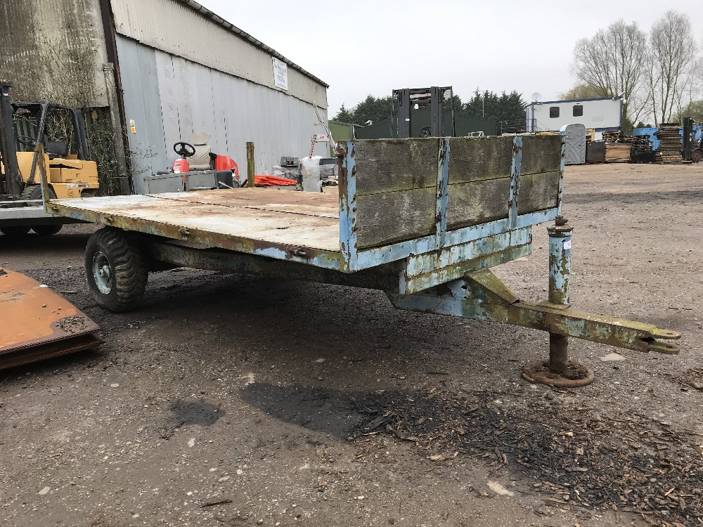 Lot 19 - SINGLE AXLED AGRICULTURAL TRAILER....NO VAT ON HAMMER PRICE