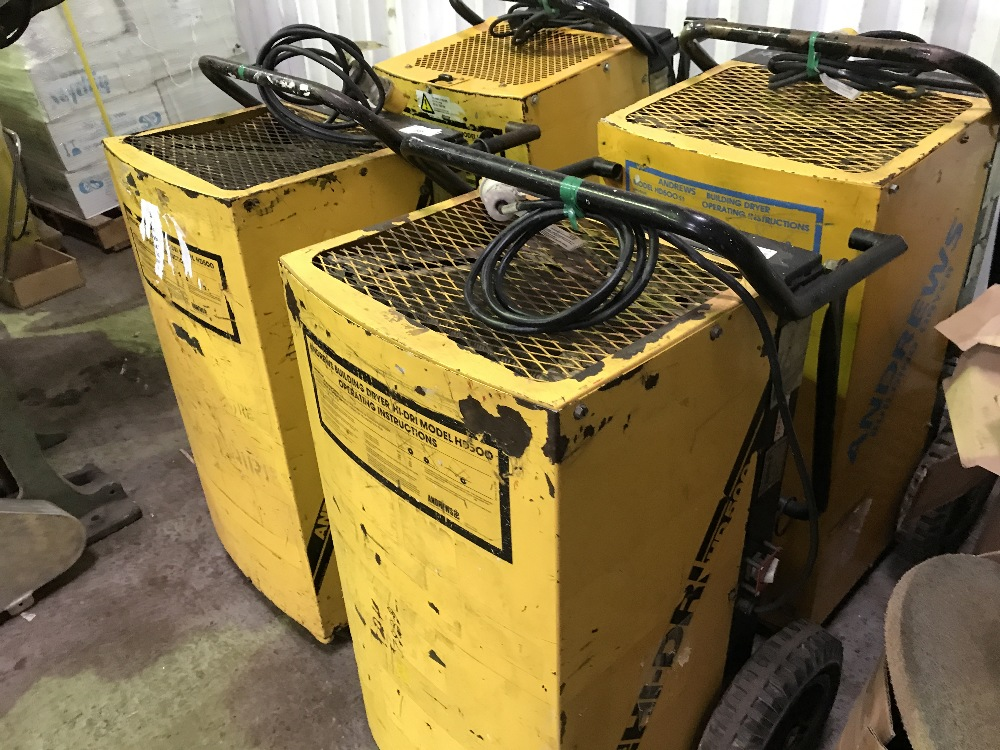 Lot 59 - 4NO. BUILDING DRYERS