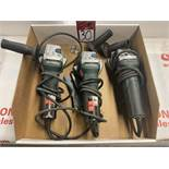 """Lot of (3) METABO 4"""" Angle Grinders"""