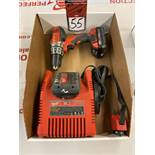 MILWAUKEE 18V Cordless Drill w/ (2) Batteries and Charger