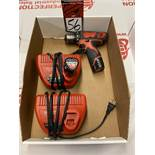 MILWAUKEE 12V Cordless Drill Driver w/ (2) Batteries and (2) Chargers