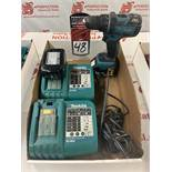 MAKITA 18V Cordless Drill w/ (2) Batteries and (2) Chargers