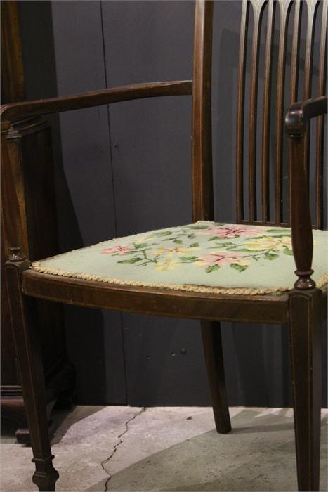 Lot 85 - An Inlaid Edwardian Armchair for restoration