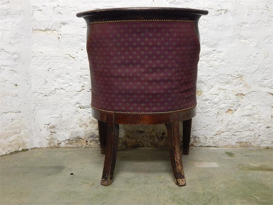 Lot 111 - Tub Chair (Due to The Furniture and Furnishings (Fire Safety) Regulations 1988 Upholstery to be