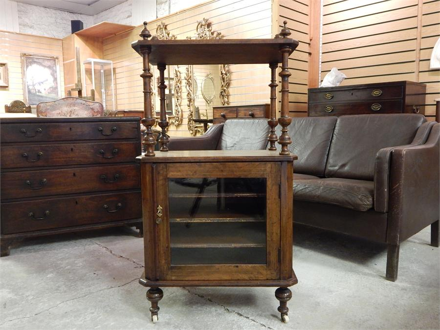 Lot 71 - Victorian Inlaid Walnut Music Cabinet