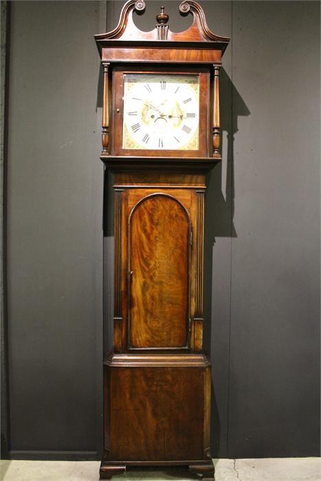 Lot 193 - An Early 19th Century Mahogany 8-Day Long case Clock, Hourly bell strike. With Movement, Dial