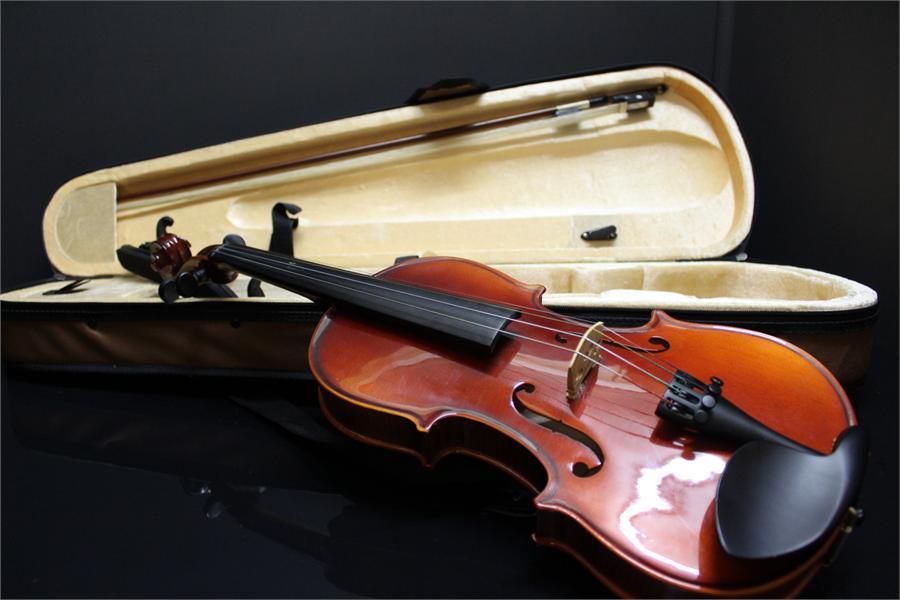 Lot 48 - Half Violin by Ashton in case including bow.