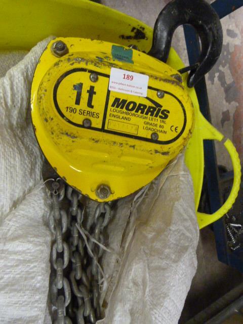*1 Tonne 190 Series Morris Chain Hoist