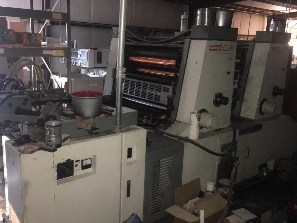 Lot 15 - KOMORI SPRINT 26 INCH 2 COLOR OFFSET PRINTING PRESS