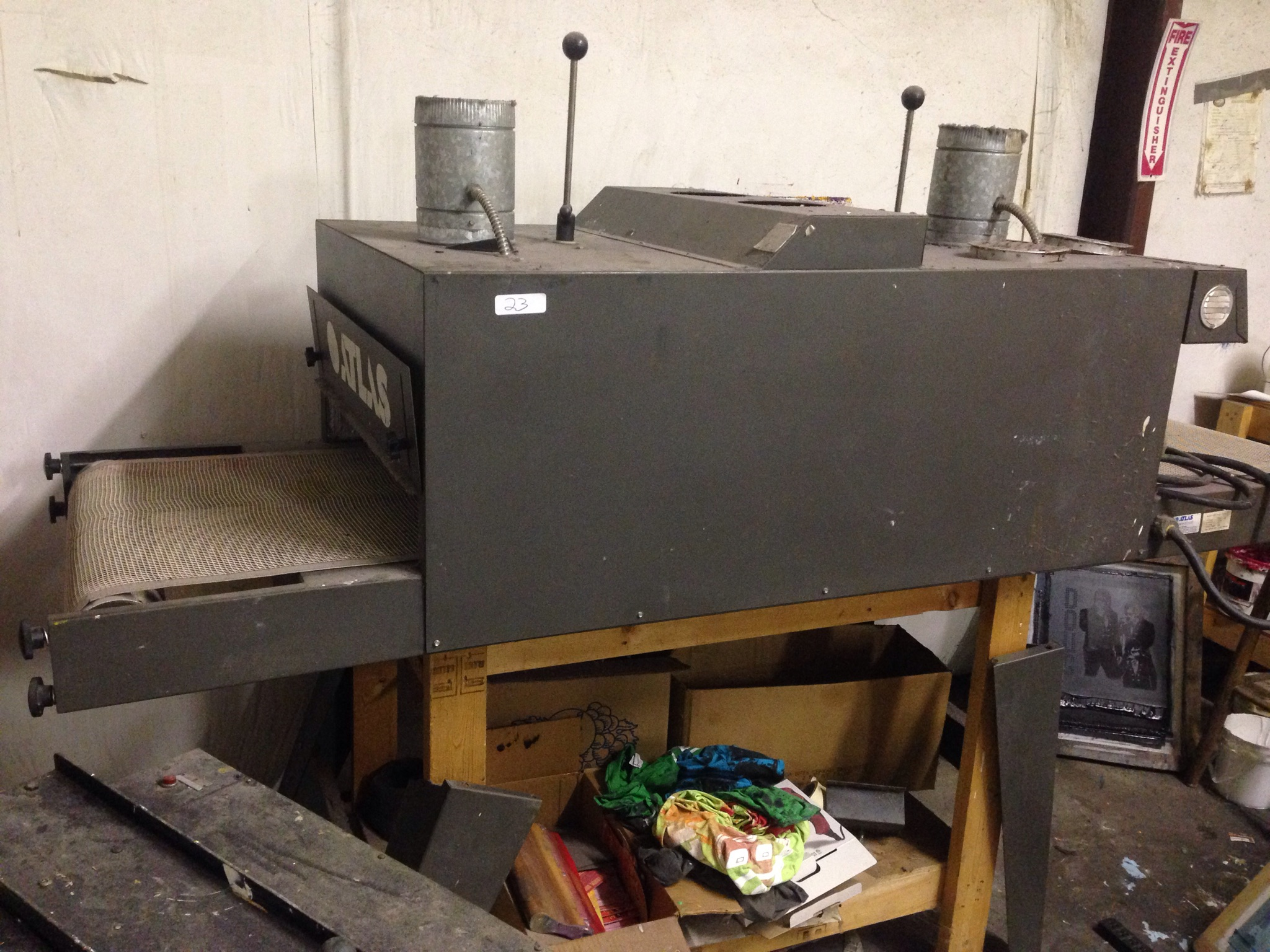Lot 23 - ATLAS 824 SURE CURE CONVEYOR DRIER