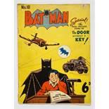 Batman 10 (1951 K. G. Murray Oz reprint). Bright cover, light tan pages, no major faults [vg+]