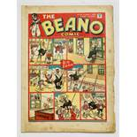 Beano 86 (1940). Propaganda war issue. Wild Boy of the Woods captures a Nazi Flying Boat. Foxing