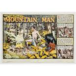 Mountain Man original double page artwork (1956) drawn and painted by Denis McLoughlin from the
