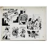 Batman: 'Slaves of Terror Syndicate' original artwork from the Batman Story Book Annual 1966. Indian